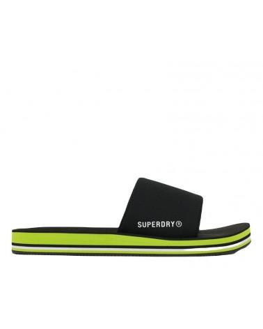 SUPERDRY SWIM SPORT  WS510020A-AKI BLACK/GREEN